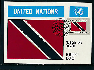 United Nations, Trinidad and Tobago, Flaggen-Karte, Flags   12/5/15