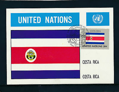 United Nations, Costa Rica, Flaggen-Karte, Flags   12/5/15