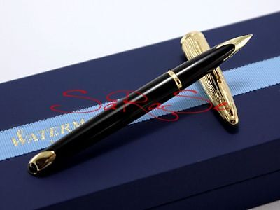 Waterman Carene Füller Fountain Pen Lack Schwarz Black & Gold Edel Neu