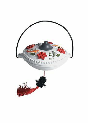 Koi and Water Lilly Asian Imperial Resin Hummingbird Feeder