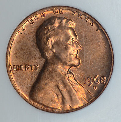 1c One Cent Penny 1968 D/D MS65, RD, NGC, FS-027.3, Lincoln Memorial Error