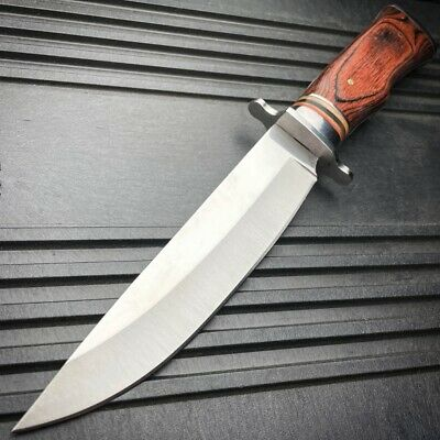"15"" WOOD TACTICAL Full Tang Survival FIXED BLADE KNIFE Machete Bowie Sword NEW"