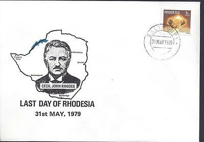 Rhodesia, 1979 ,last Day Of Rhodesia Illustrated Cover.(Political Cover