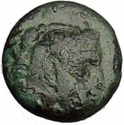 300BC Hercules Bow Club Authentic Original Ancient GREEK City Coin i47861