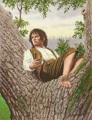 Frodo Lord Of The Rings Art Print