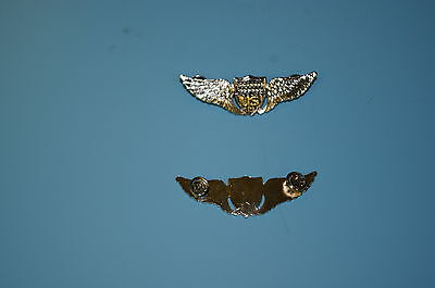 b0428 WW 1 US Army Pilot  metal wing late