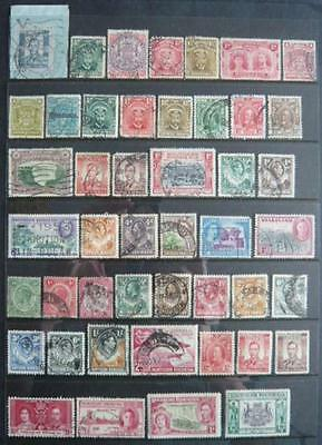 Rhodesia Area pre-1953 collection 62 diff stamps