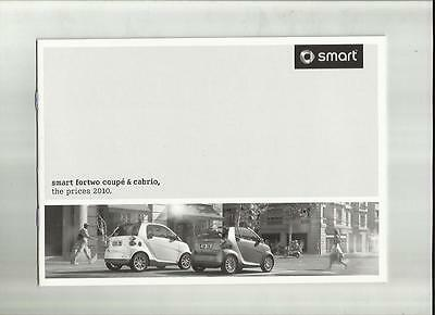 Smart Fortwo Coupe & Cabrio Inc.brabus Options Prices Sales Brochure April 2010