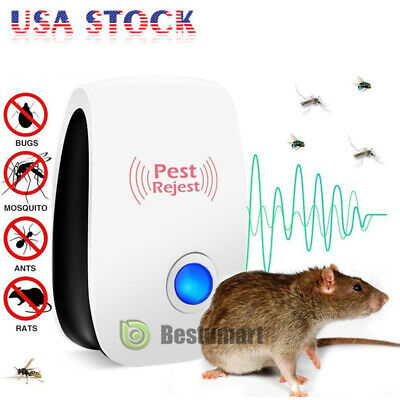 US Electronic Ultrasonic Anti Pest Bug Mosquito Cockroach Mouse Killer Repeller