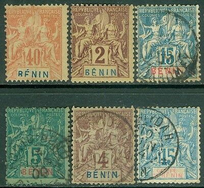 BENIN : Nice group of 6 different Peace & Commerce Issues. Yvert Catalog €79.00.