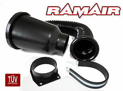 RAMAIR Alfa Romeo Spider GTV 2.0 Enclosed Cold Air Filter Induction Kit in Black