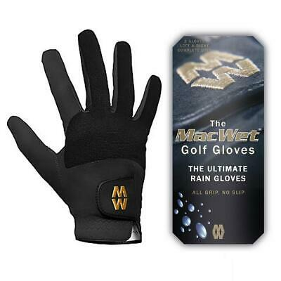 Glenmuir Golf 2017 MacWet Micromesh Wet Weather Golf Gloves (Black)