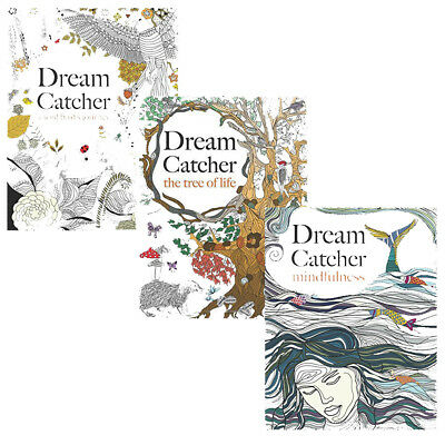Dream Catcher Anti Stress Colouring 3 Books Art Therapy Packmindfulness New Pap