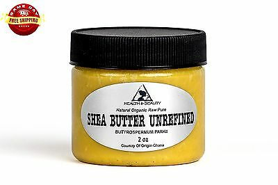 Shea Butter Unrefined Yellow Organic Raw Cold Pressed Grade A Ghana Pure 2 Oz