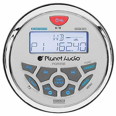 Planet Audio PGR35B Bluetooth In Dash Marine Gauge Digital Media AM/FM Receiver