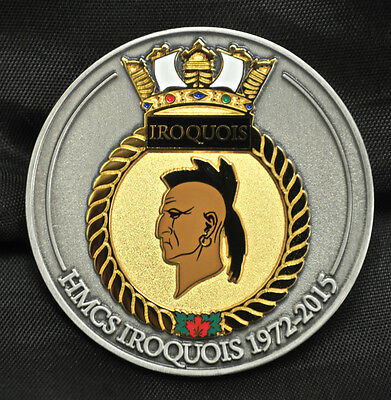 HMCS Iroquois Challenge Coin 1972-2015