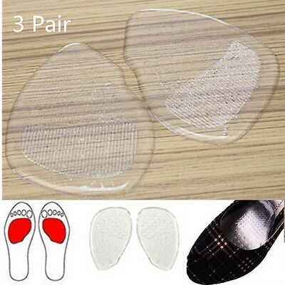 3 Pair JT23 Silicone Foot Care High Heel Gel Cushion Insoles Feet Shoe Front Pad