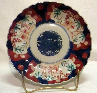 Antique Japanese Imari Plate Birds Florals Meiji Asian Collectible