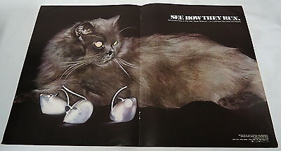 1978 Music trade centerfold ad ~ AEROSMITH Toys in the Attic ~ cat & mouse