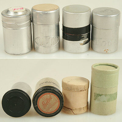 FILM CANS, VINTAGE COLLECTION, SET OF 8