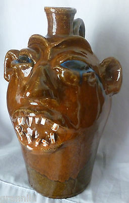"""MARVIN BAILEY FACE JUG,  9 1/2"""" TALL  EXCELLENT CONDITION, WITH FREE SHIPPING"""