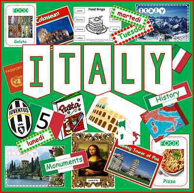 CD ITALY ITALIAN LANGUAGE MULTICULTURE DIVERSITY TEACHING RESOURCES DISPLAY