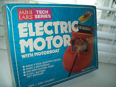 Electric Motor with Motorboat by Mini Labs Tech Series NEW