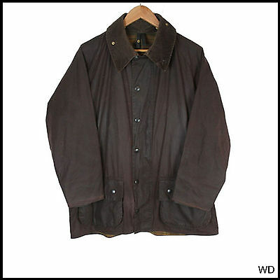 Vintage Barbour Beaufort Country Purple A190 Wax Jacket Coat C 44 Xlarge