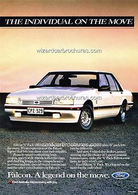 1987 Ford Falcon Xf 's' Pack A3 Poster Ad Sales Brochure Advertisement Advert