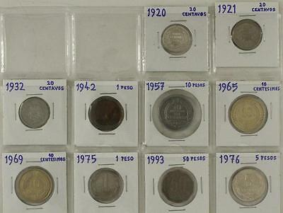 Vintage Mixed Date Foreign Coins 10 PC LOT CHILE 1920-1976