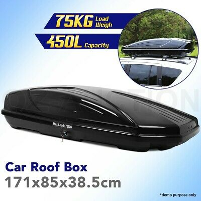 450L Car Roof Storage Pod Vehicle Rooftop Luggage Rack Storage Box Carrier