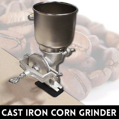 New MTN Large Cast Iron Hand Corn Coffee Grains Grinder Wheat Nut Mill