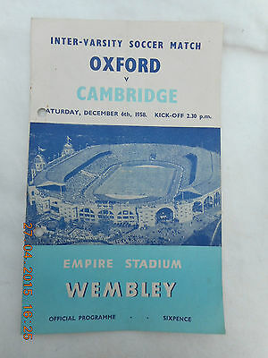 Oxford University V Cambridge University Football  6  December 1958