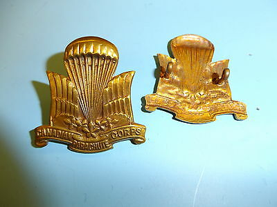 0327 WWII Canadian Parachute Corp beret badge 1st style