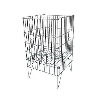 Retail 40cm Square Dump Bin Adjustable Basket in Zinc Shop Retail Display (K67)