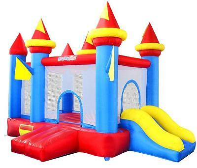 Bounceland Adventure Flag 13.5ft Bouncy Castle with Airflow Fan Blower