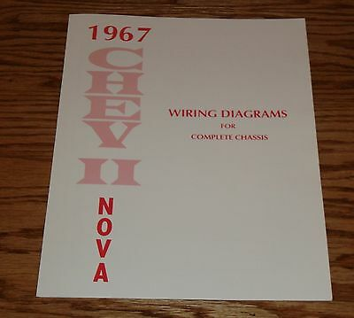 1967 Chevrolet Chevy II Nova Wiring Diagrams for Complete Chassis 67