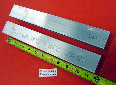 "2 Pieces 1-1/2"" X 1-1/2"" ALUMINUM SQUARE 6061 FLAT BAR 12"" long T6511 Solid1.50"