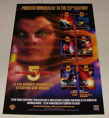 1998 BABYLON 5 home video ad page ~ PROCEED IMMEDIATELY