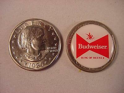 "Budweiser Beer Lucky Susan B. Anthony Dollar Golf 1"" Ball Marker"
