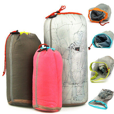 LIGHTWEIGHT Sport Camping CORDLOCK CLOSURE DRAWSTRING Compression Stuff Sack Bag