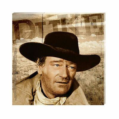 "John Wayne The Searchers Western Photo 6"" x 6"" Stretched Canvas Wall Art, SEALED"