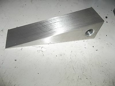 """1 1/2"""" square aluminum wedge w/ lanyard hole - Halligan firefighter forced entry"""