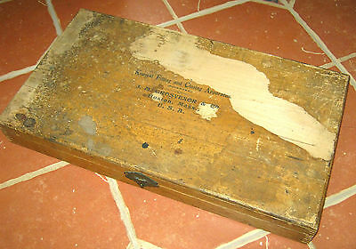 Antique 1800s KONSEAL SUPPOSITORY APPARATUS BOX  J M Grosvenor LITHO Apothecary