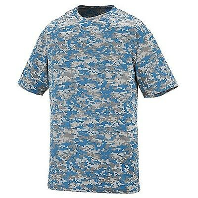 NEW Columbia Blue Digital Camo Baseball Wicking Dry Fit Youth Sizes T Shirt Kids