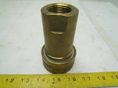 "Foster H8 1""NPT Quick Coupling Hydraulic Coupler Female Brass Two Way Shut Off"