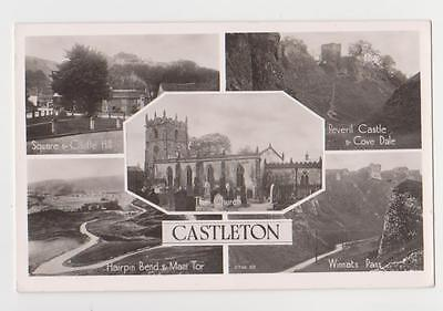 RPPC,Castleton,U.K.5 Views,Derbyshire,Used,Sheffield,1957