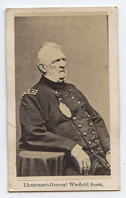 LIEUTENANT-GENERAL WINFIELD SCOTT cdv