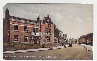 Bletchley,U.K.U.D.Council Offices & Victoria Road,Buckinghamshire,c.1909