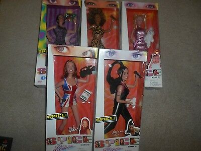 "5 NEW Spice Girls 4 ""Girl Power "" 1 ""On Tour"" Complete Set Mel Victoria + READ"